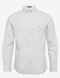 D1. HERRINGBONE TATTERSALL REG BD - chemises à carreaux - eggshell
