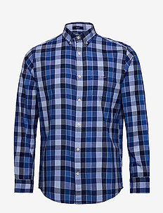 D1. WINDBLOWN OXFORD CHECK REG BD - oxford shirts - nautical blue