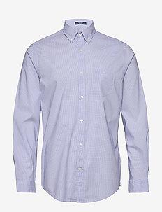 D1. TP DOBBY MICRO CHECK REG BD - checkered shirts - blue bell