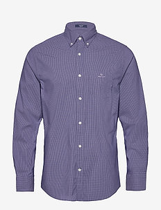 D1. TP DOBBY MICRO CHECK REG BD - checkered shirts - navy