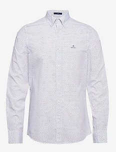D1. BC PRINT SLIM BD - business shirts - white