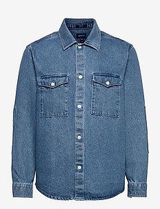 18. D2. REG DENIM SHIRT TOWN - basic overhemden - indigo
