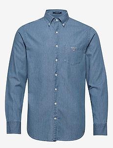 THE INDIGO REG BD - denimowe koszulki - semi light blue