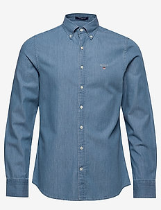 THE INDIGO SLIM BD - jeansskjorter - semi light blue