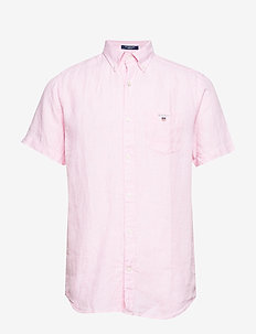 THE LINEN SHIRT REG SS  BD - BRIGHT PINK