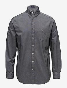 REG OXFORD BD - basic skjorter - black