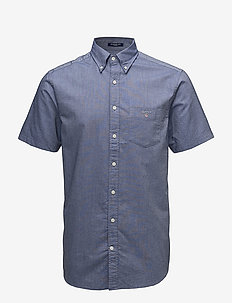 REG OXFORD SHIRT SS BD - oxford-paidat - persian blue
