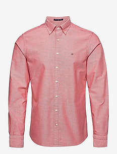 SLIM OXFORD SHIRT BD - basic shirts - bright red