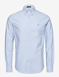 SLIM OXFORD SHIRT BD - basic shirts - capri blue