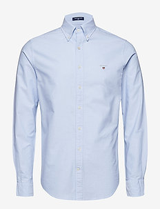 SLIM OXFORD SHIRT BD - basic shirts - capri blue