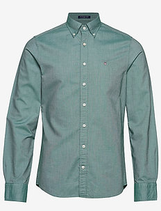 SLIM OXFORD SHIRT BD - basic shirts - ivy green