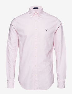 SLIM OXFORD SHIRT BD - peruspaitoja - light pink
