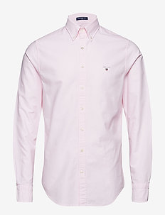 SLIM OXFORD SHIRT BD - basic shirts - light pink