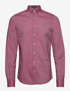 THE OXFORD SHIRT SLIM BD - MAHOGNY RED