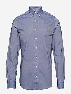 SLIM OXFORD SHIRT BD - basic shirts - persian blue