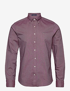 SLIM OXFORD SHIRT BD - basic shirts - port red