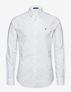 SLIM OXFORD SHIRT BD - basic skjorter - white