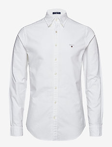SLIM OXFORD SHIRT BD - basic skjortor - white