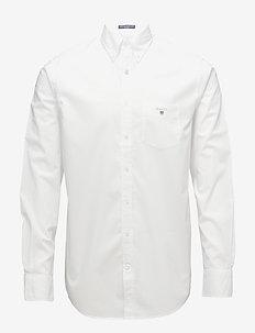 REG BROADCLOTH BD - biznesowa - white