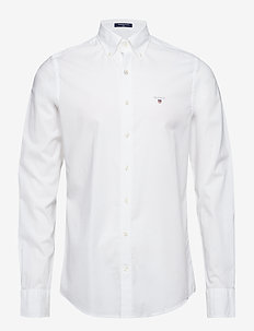 THE BROADCLOTH SLIM BD - oxford-paidat - white