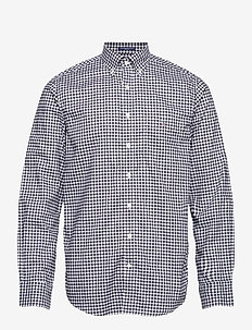 REG BROADCLOTH GINGHAM BD - ternede skjorter - black
