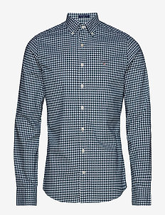 THE BROADCLOTH GINGHAM SLIM BD - ATLANTIC DEEP
