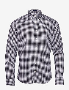 THE BROADCLOTH GINGHAM SLIM BD - ternede skjorter - black