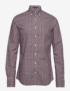 THE BROADCLOTH GINGHAM SLIM BD - PORT RED