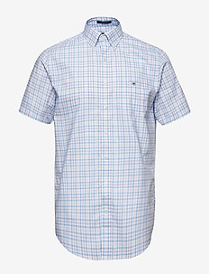 THE B-CLOTH 3COL GINGHAM REG SS BD - CAPRI BLUE