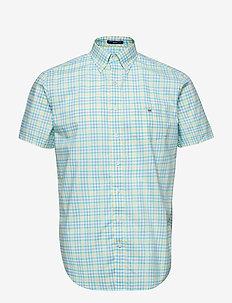 THE B-CLOTH 3COL GINGHAM REG SS BD - POOL GREEN