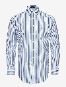 THE BROADCLOTH 3 COL STRIPE REG BD - COLLEGE BLUE