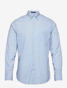 REG BROADCLOTH STRIPE BD - businesskjorter - capri blue