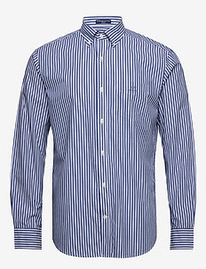 THE BROADCLOTH STRIPE REG BD - business shirts - college blue
