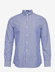 SLIM BROADCLOTH STRIPE BD - chemises décontractées - college blue