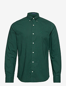 SLIM BC 2 COL GINGHAM BD - casual shirts - ivy green
