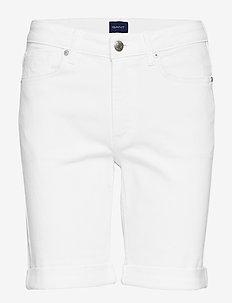 D1. WHITE DENIM SHORTS - bermudas - white