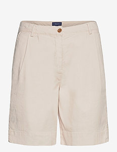 D1. HW PLEATED CITY SHORTS - chino shorts - putty
