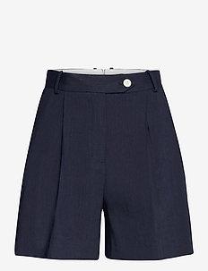 D2. STRETCH LINEN SHORTS - chino shorts - evening blue