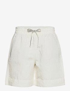D2. SUMMER LINEN SHORTS - shorts casual - eggshell