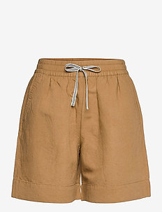 D2. SUMMER LINEN SHORTS - shorts casual - warm khaki