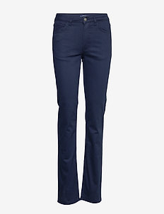 TAPERED SATIN JEAN - MARINE