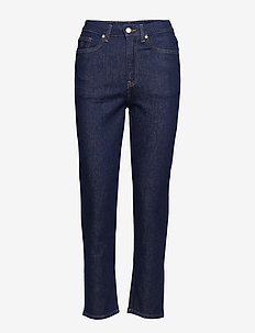 O2. SLIM CROPPED HW DENIM JEANS - jeans droites - dark blue