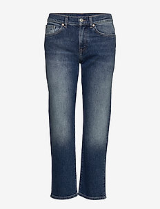 D1. CROPPED BOYFRIEND JEANS - boyfriend jeans - semi light blue broken in