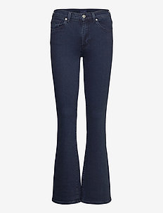 D1. SLIM BOOTCUT JEANS - boot cut jeans - dark blue broken in