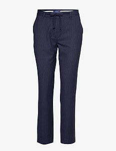 O1. PIN STRIPE PANTS - EVENING BLUE