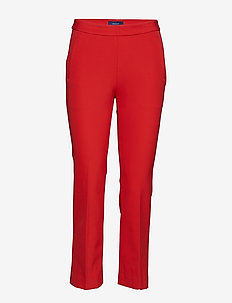 O1. STRAIGHT CROPPED PANT - BRIGHT RED