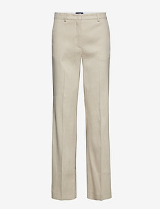 O2. STRETCH LINEN WIDE PANT - PUTTY