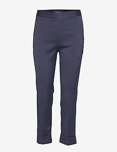 D1. SIGNATURE WEAVE CIGARETTE PANT - EVENING BLUE