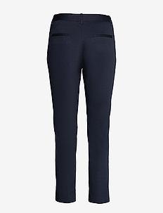 D1. CROPPED SLACK - slim fit broeken - evening blue