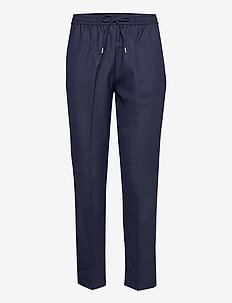 D1. WOOL BLEND PULL ON PANT - casual byxor - evening blue